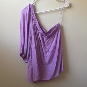 Maeve Lilac One Shoulder Blouse Purple